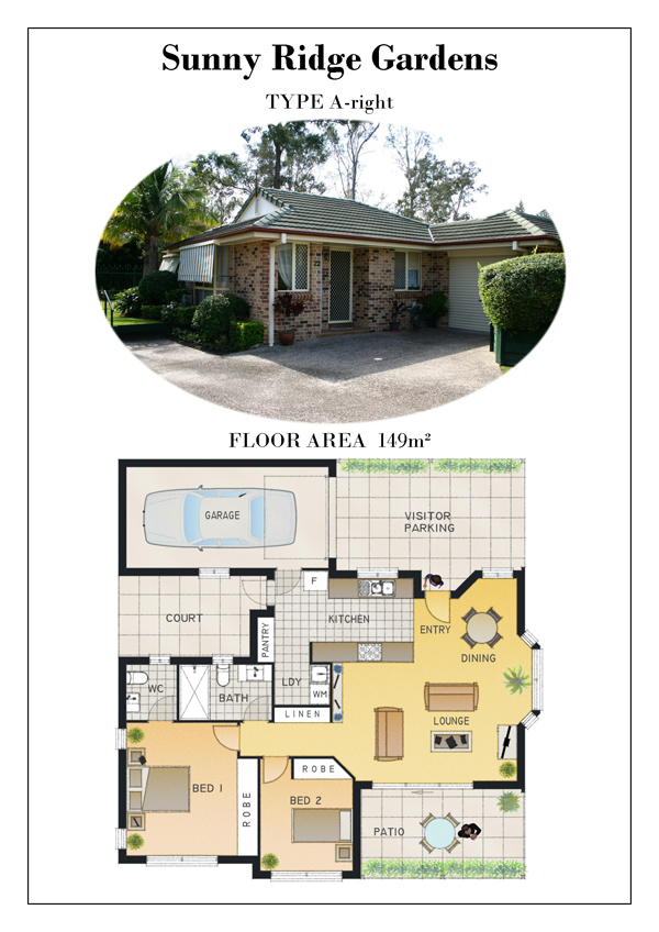 TYPE A Right - Floor Plans